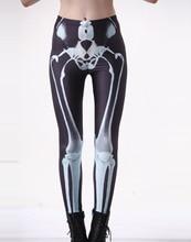 Hot 3035 sexy girl женщины костей ног рентгеновский снимок 3D печать работает упругие фитнес спорт леггинсы Йоги Штаны