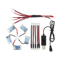 5pcs 150mAh 3.7V li-po Battery and x5 cable charger For Eachine E010 Furibee F36 JJRC H36 RC Quadcopter Spare Parts