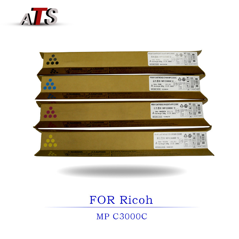 1PCS photocopier fitting MP C3000 Toner Cartridge Compatible for Ricoh Aficio MPC3000C Copier Spare Parts with toner powder