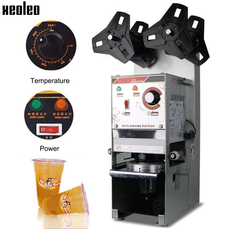 Xeoleo Automatic Cup sealing machine Bubble tea machine 220V Cup sealer for Coffee/Milk tea/Soy milk cup 9.5/9cm Max 17cm High super wholesale jin xuan milk oolong tea 50g high quality tieguanyin green tea milk oolong superior health care milk tea