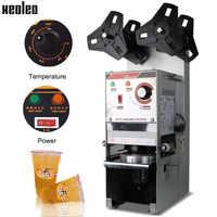Xeoleo automatique tasse étanchéité machine bulle thé machine 220 V tasse scellant pour café/lait thé/soja lait tasse 9.5/9 cm Max 17 cm de haut