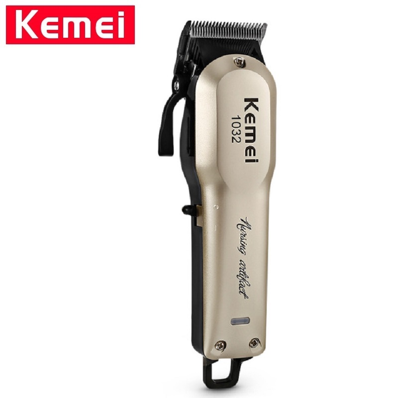 <font><b>Kemei</b></font> KM-<font><b>1032</b></font> Hair Beard Trimmer Professional Electric Hair Clipper Razor Cordless Hair Cutting Machine for men hairstyle Razor image
