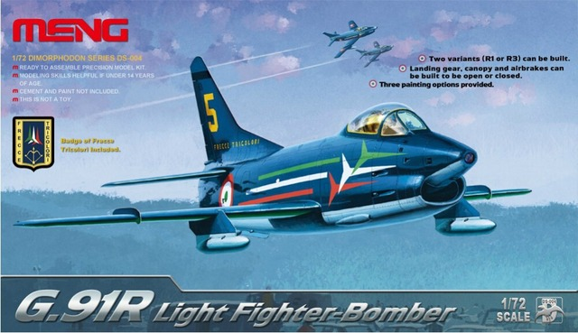 MENG DS-004 1:72 Italy G.91R light fighter model