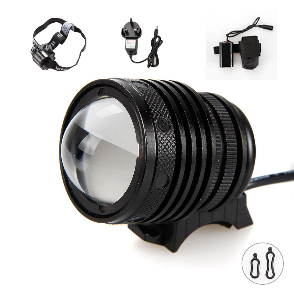 2 In 1 4000Lumens 15W Zoomable XM-L U2 LED Bicycle bike Light Waterproof led Headlamp+6400mAh Battery+AC Charger+Headband cree xm l t6 bicycle light 6000lumens bike light 7modes torch zoomable led flashlight 18650 battery charger bicycle clip