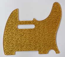 KAISH Gold Sparkle Plastic Tele Single Coil Scratch Plate Pickguard for Telecaster