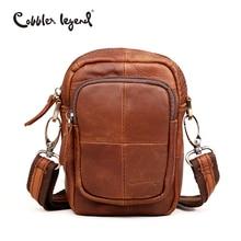Cobbler Legend Small Handmade Cow Leather Messenger Waist Bag Packs For Man 2016 Fashion Brand Man