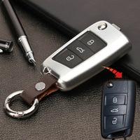 1pcs Aluminum Car Key Case Cover For Volkswagen VW Golf 7 R GTI GTD Golf7 MK 7 Tiguan MK2 New Golf 8 MK8 Skoda Octavia A7