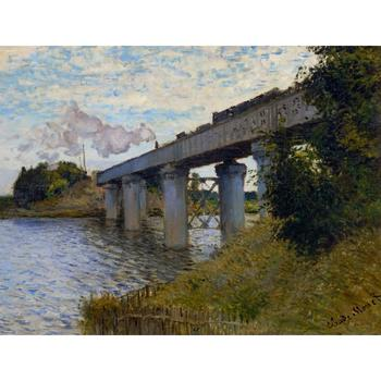 High quality Claude Monet modern art The Railway Bridge at Argenteuil Oil paintings reproduction hand painted