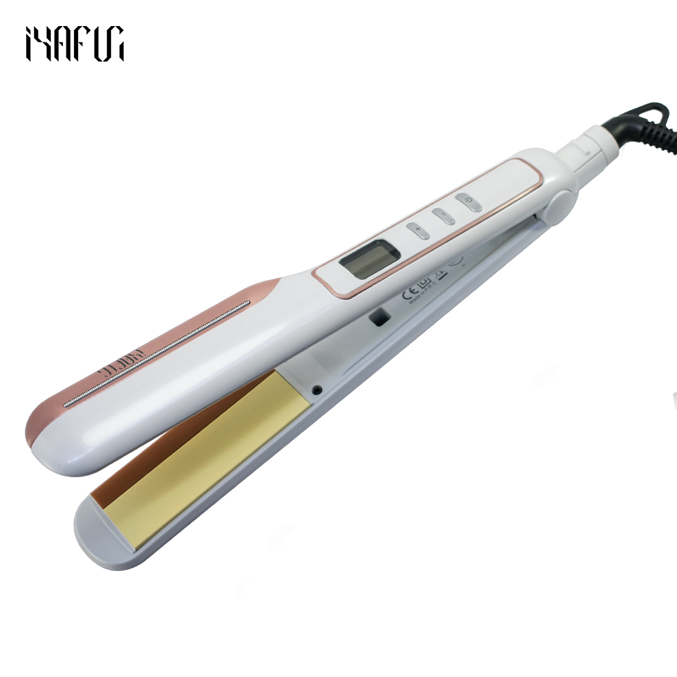 LCD Display ceramic coating Hair straightener comb hair Curler beauty care Iron healthy beauty flat irons chapinha infrared flat iron hair straightener mch fast heating dual voltage ceramic plates lcd display flat hair straightener irons