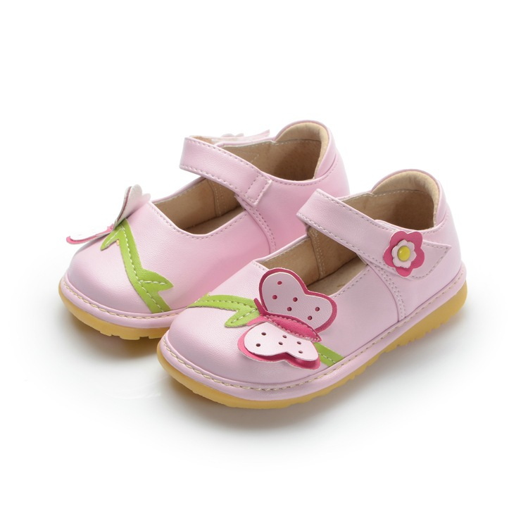 On Sale Baby Girl Spring Shoes Pink Toddler Squeaky Shoes -5052
