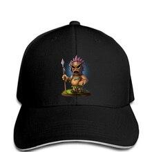 Hombres gorra de béisbol barato Tiki máscara divertida del negro de la  manera gorras de béisbol sombrero divertido novedad tsnap. aa701e3cb89