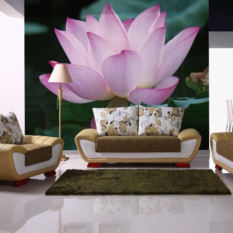 Behang-voor-muren-3d-warme -romantische-grote-muurschilderingen-bloemen-type-lotus-woonkamer -bead-kamer-decoratie.jpg