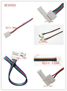 5pcs 2pin /3pin /4pin /5pin/6pin 8mm 10mm 12mm LED Solderless Connector for 3528/5050/3014/WS2812B/ws2811 RGB/RGBW LED strip