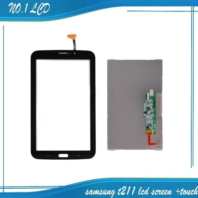 """Para Samsung Galaxy Tab 3 7.0 """"T211 Preto Touch Screen Digitador de Vidro Sensor + Monitor de LCD Visor Do Painel de Substituição"""