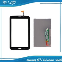"""for Samsung Galaxy Tab 3 7.0"""" T211 Black Touch Screen Digitizer Glass Sensor +LCD Display Panel Monitor Replacement(China (Mainland))"""