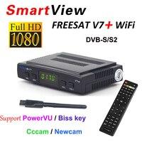 [Подлинный] freesat V7 с USB Wi-Fi dvb-s2 рецепторов HD Спутниковые антенны Поддержка powervu Biss ключ cccamd Newcamd YouPorn