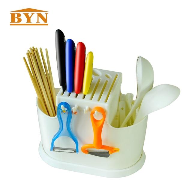 BYN Multifunctional Kitchen Tools Plastic Kitchen Utensils Rack High  Quality Spoon Chopsticks Storage Draining Rack DQ1207