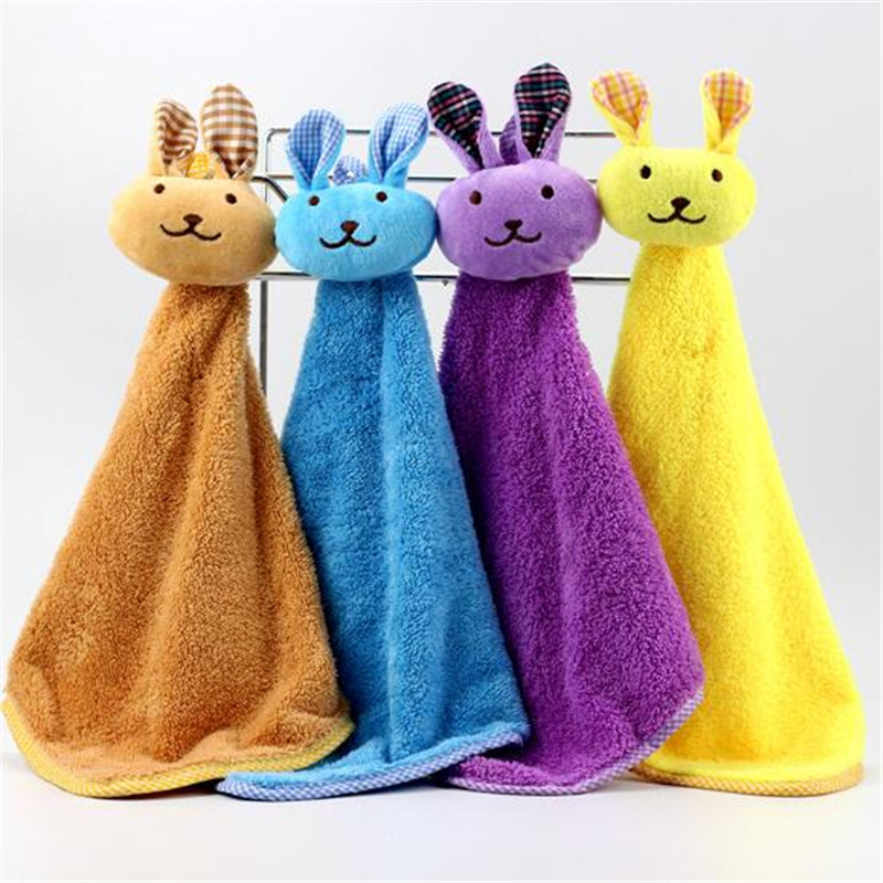 Printed Cartoon Cat Face Towel Bathroom Supplies Cleaning Cloth Cotton Towels