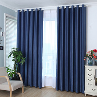 Solid Grommet Window Curtain Foam Lined Blackout Thermal Treatment Home Decoration Modern Curtain