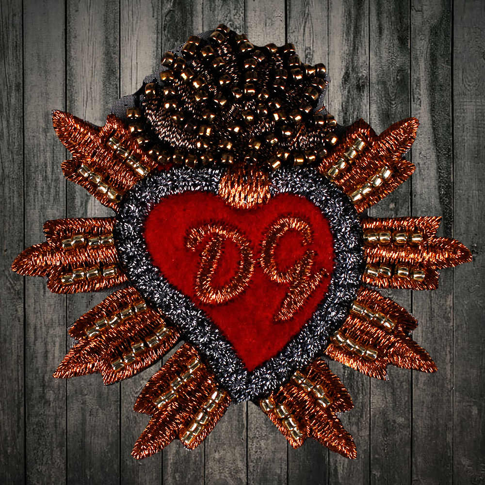 Detail Feedback Questions about Embroidered beaded crown red hand sewing  color heart embroidery patch embroidery clothing repair hole heart applique  on ... af3c8ca6c438