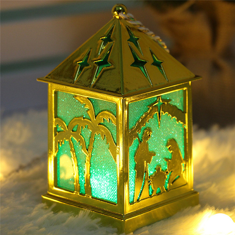 Christmas Decorations For Home LED Light Dolls House Villa Xmas Ornaments Hanging Christmas Tree Hanging Decor Navidad 40DC606