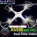 Dron x5sw x5c atualização X6sw WIFI FPV drone com câmera hd rc helicóptero FPV quadcopter profissionais drones com câmera hd
