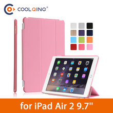 PU Leather Tablets Case For iPad Air 2 9.7 Tri-folded Protective Cover Smart Wake Up Sleep Tablet Case For iPad Air Case Air29.7 недорого