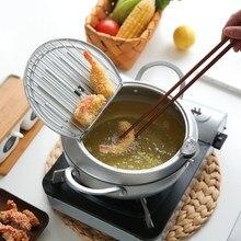 Японский стиль фритюрница термометр темпура сковорода для жарки контроль температуры жареный куриный горшок кухонная утварь