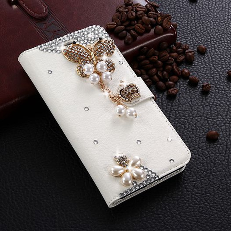 For Xiaomi Redmi Note 5A Global Case Glitter Rhinestone Leather Cover 3D Crystal Flip Wallet Fundas For Redmi Y1 Diamond Cases
