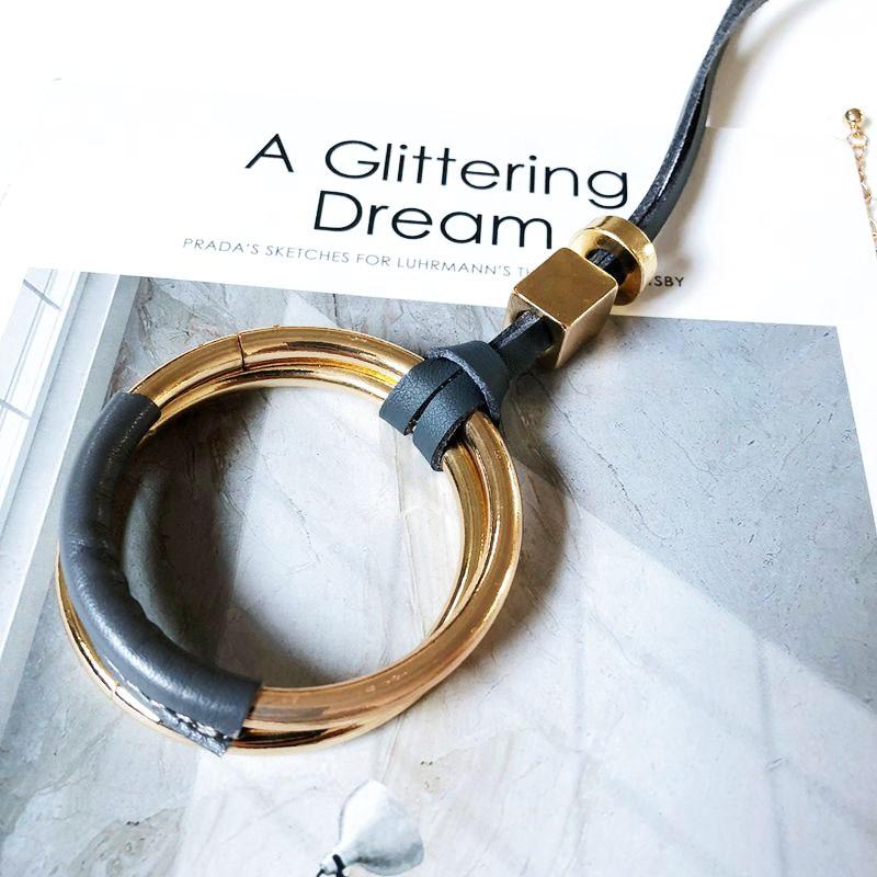gold leather handmade