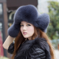 Women Genuine Fox Fur Hat With Earflaps Winter Cap Hat cap Women Hat For Russian Winter Women Fur Hat With Ears New Phoniex
