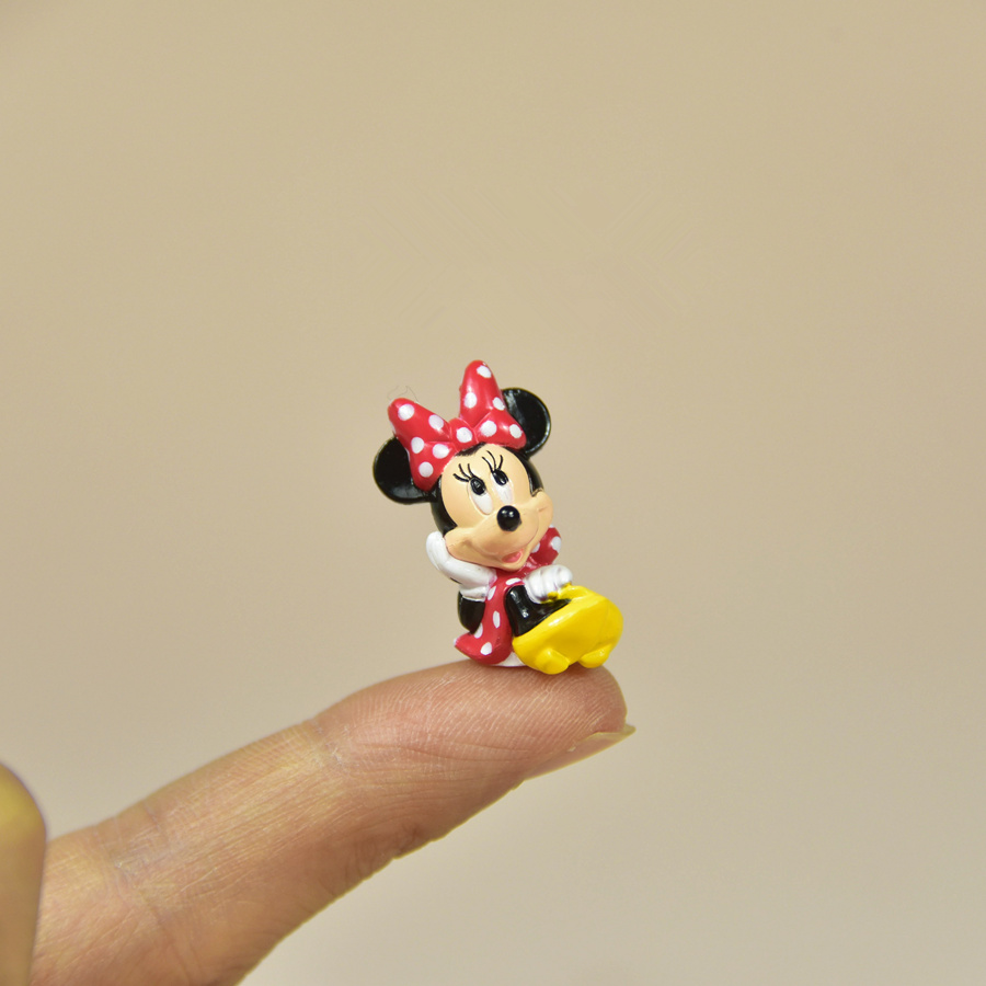 60pcs 2.5cm classical cute very small minnie mouse figure toys sitting design minnie mouse red color collection figure toys