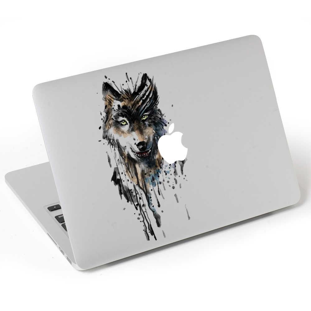 עיניו של וולף ויניל מדבקות מדבקה למחשב נייד macbook pro air 13 אינץ מעטפת עבור mac ספר עור נייד קריקטורה