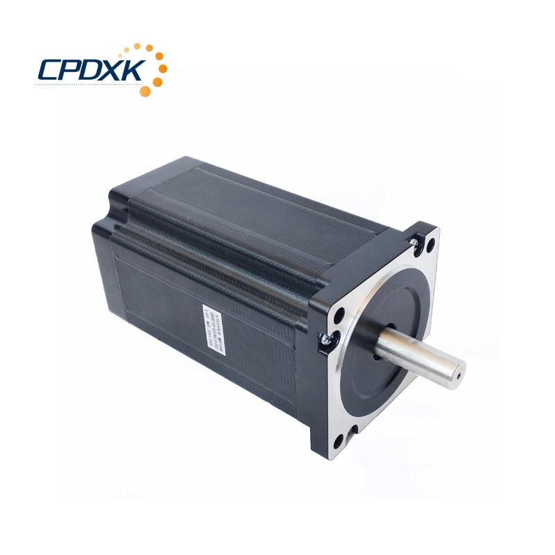 86 NEMA34 cnc stepper motor 156 mm body length 12N m torque motor driver DM860D power