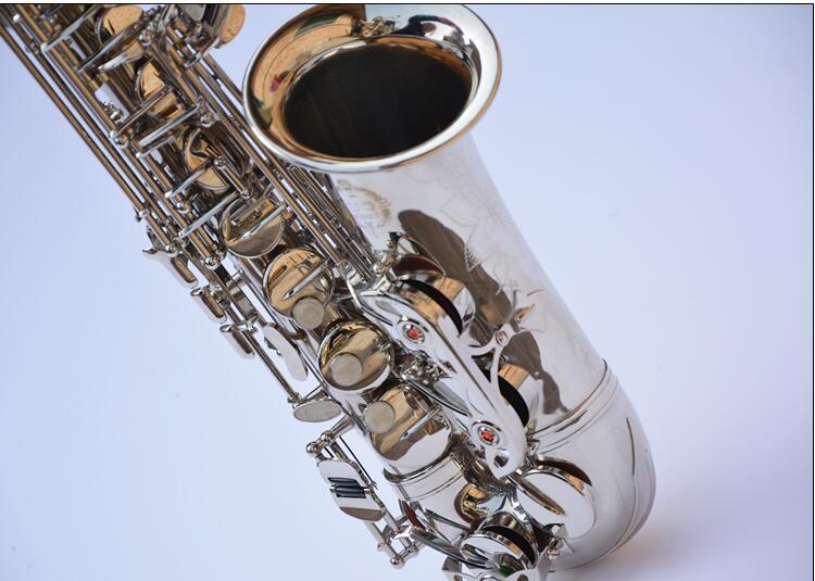 Saxophone Alto Eb Flat Top Musical Instrument Saxophone Surface Nickel Plated Sax Professional High Quality Alto Saxofone brand suzuki eb alto saxophone as 500n drop e saxophone surface to electroplating black nickel gold the paint sax instrument