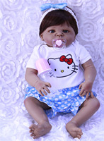 55cm Newest Style NPK girl fashion doll full silicone reborn dolls New Arrival Lifelike Baby Reborn Toys for Kid's Birthday Gift