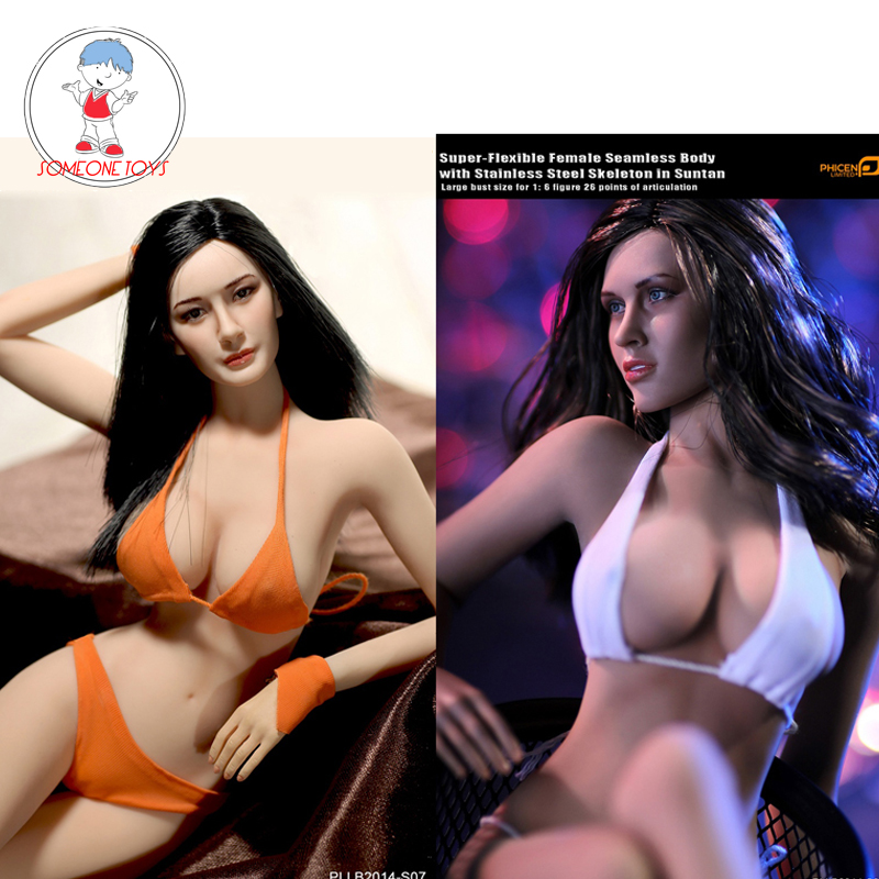 1/6 Action Figure Doll Large Breast Super-Flexible Female Seamless Body Stainless Steel Skeleton Suntan/Pale Women Figurine1/6 Action Figure Doll Large Breast Super-Flexible Female Seamless Body Stainless Steel Skeleton Suntan/Pale Women Figurine