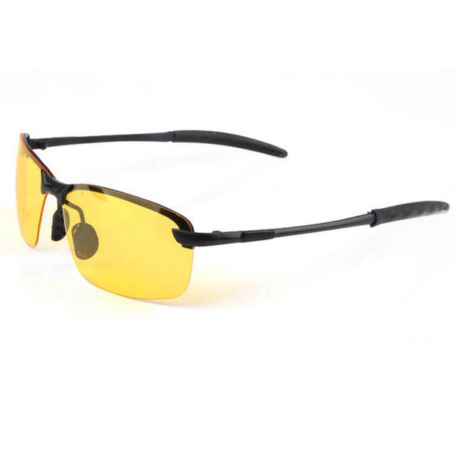 Night Vision Polarized Lens Rectangle Men's Sunglasses