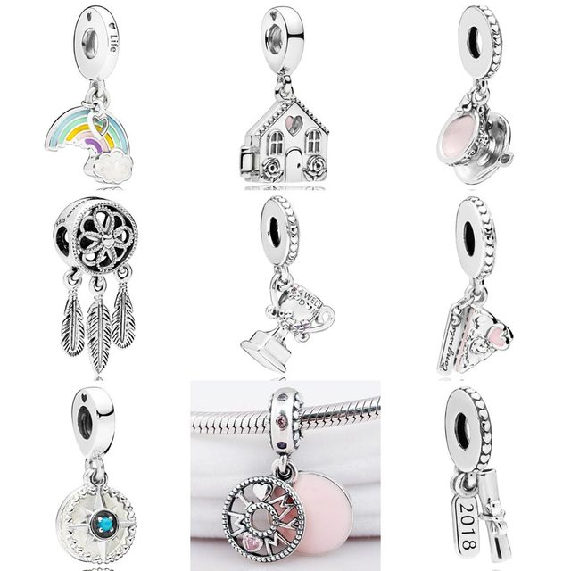 8f2f3f144 Compass Rose graduation scroll spiritual dreamcatcher perfect home Pendant  Charm Fit Pandora Bracelet 925 Sterling Silver Beads