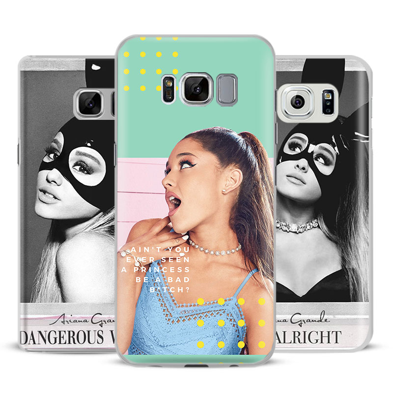 Ariana Grande Cases Mobile Phone Case Cover Bags For Samsung Galaxy S4 S5 S6 S7 Edge S8 Plus Note 8 2 3 4 5 A5 A710 J5 J7 2017