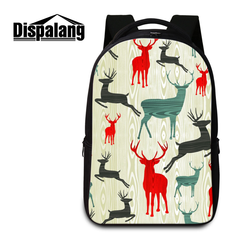Dispalang Fashion Men's Backpacks Casual Travel Shoulder Bag Deer Mochila Women Student School Bag For Teenagers Laptop Backpack dali katch moss green