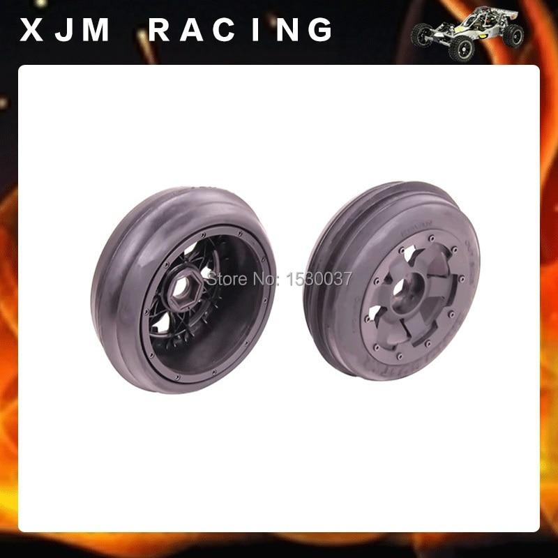 King Motor 1 5 Buggy Front Sand Wheels Tires Set 2 Fit HPI Baja 5B SS