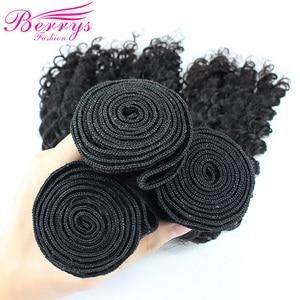 Image 5 - Brazilian Deep Wave 3 Bundles with Lace Closure 4x4 Free Part 100% Human Hair Extension Remy Hair Weaving Berrys Fashion