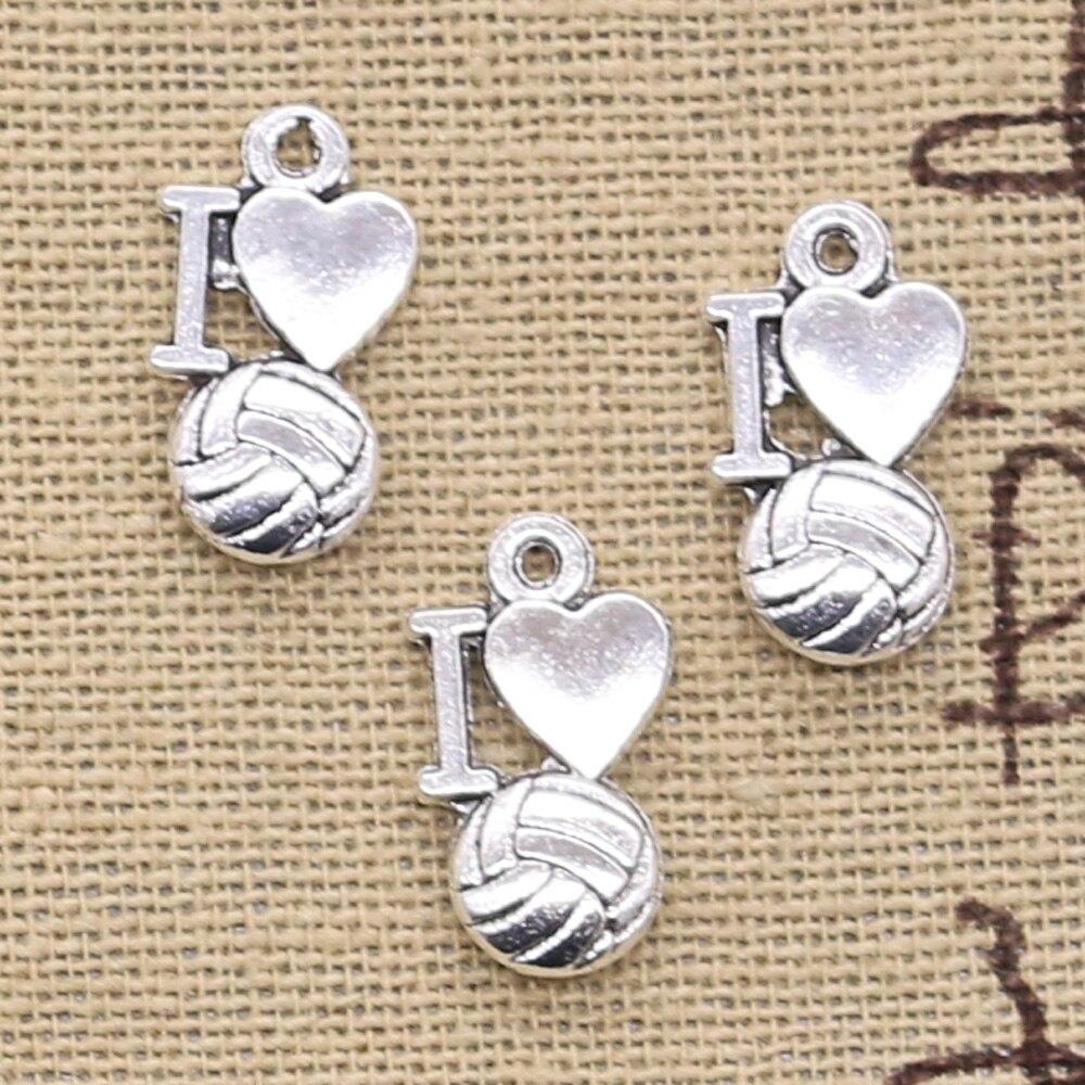 30Pcs Volleyball bijoux fille joueur Charms livraison gratuite Sports Fit Bracelet