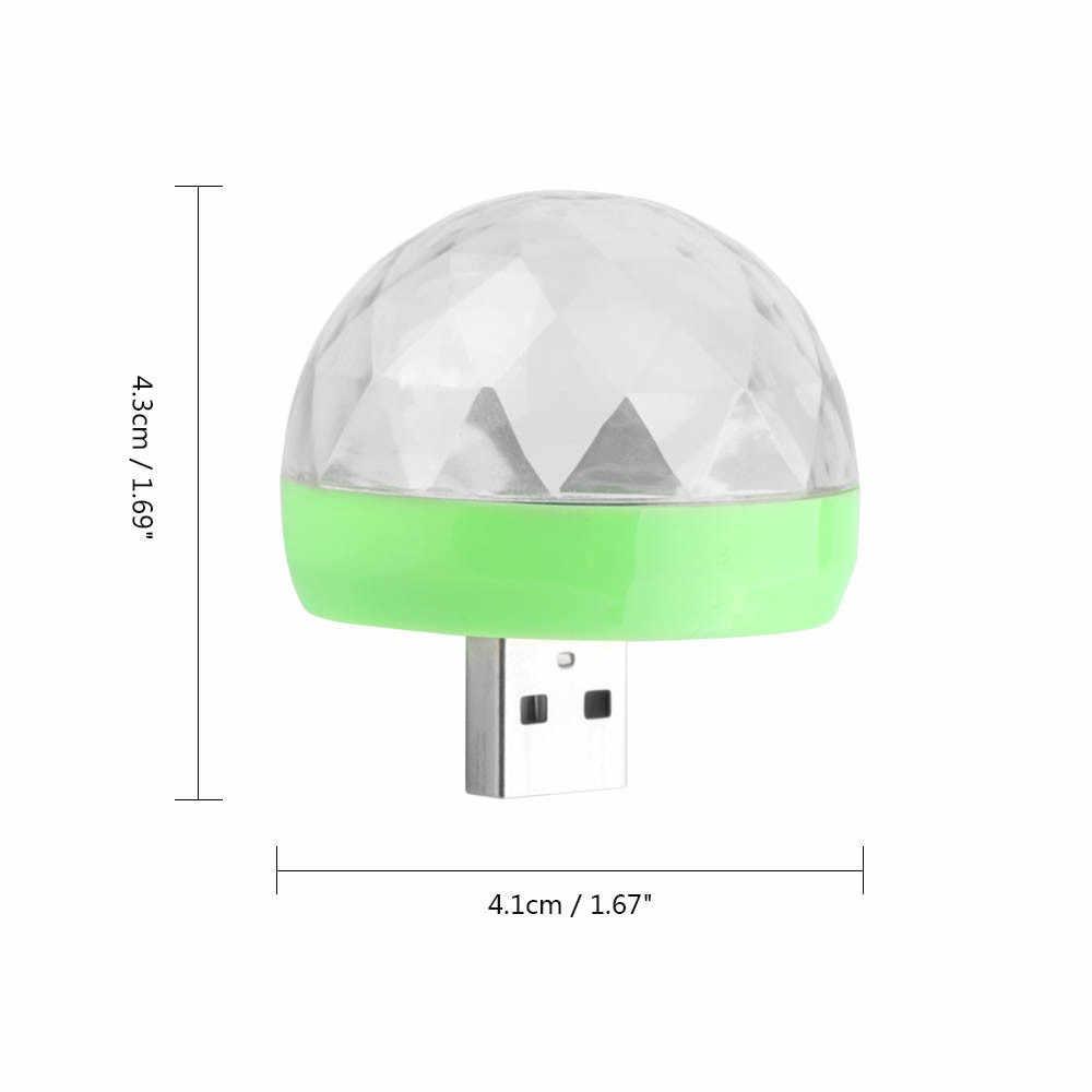 1 Pc USB Light Portable Mini LED Karaoke Stage Ball DJ Lights for Christmas Bar Party Home