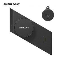 シャーロック S2 電気錠指紋 + パスワードスマートドアロック 1Pc キーオフィスガラスドアワイヤレスアプリ追加 bluetooth 制御