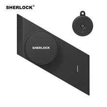 Sherlock S2 cerradura eléctrica con huella dactilar y contraseña, cerradura de puerta inteligente con 1 Tecla de Pc para puerta de cristal de oficina, Control inalámbrico por aplicación Bluetooth