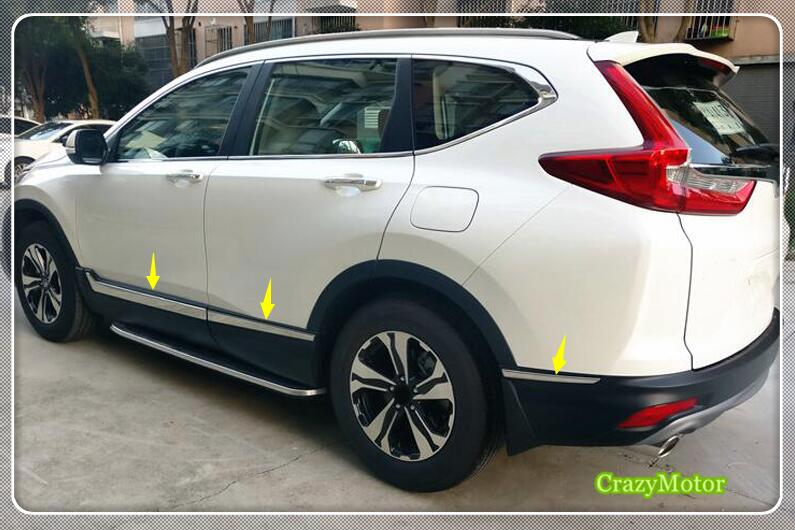 Crv 2017 Interior >> For Honda CRV 2017 2018 stainless steel Body Side Molding Trim Overlay accessories car styling ...