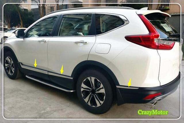 honda crv   stainless steel body side molding trim overlay accessories car styling