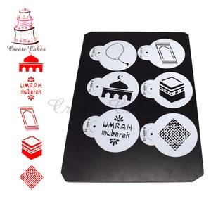 Image 3 - Eid Mubarak Stencil for Cake and Cookie Plastic Decorative Stencil Fondant Decorating Sugarcraft Tools Bakeware